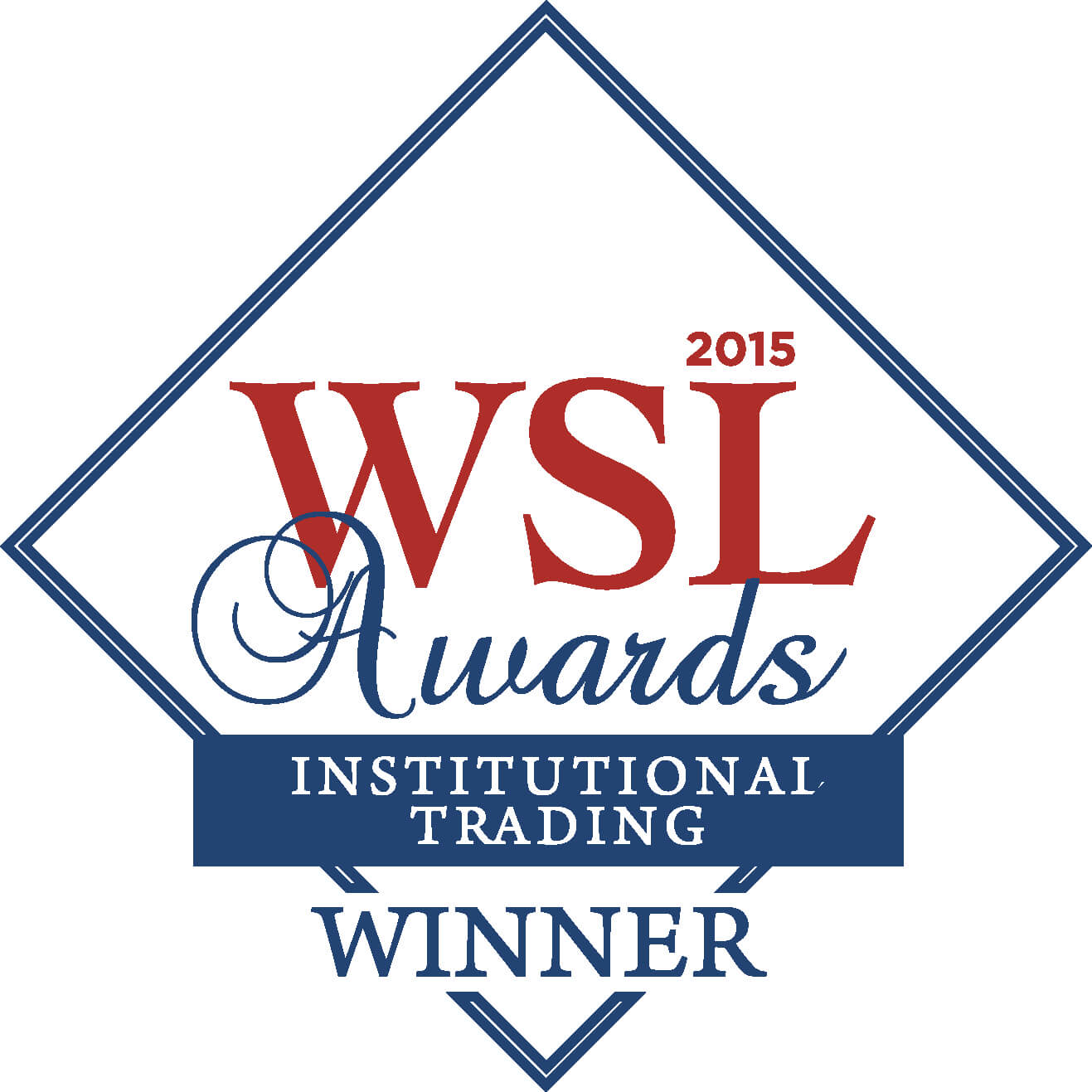 2015 Wall Street Letter Institutional Trading Awards